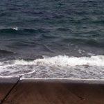 干潮時の渚の下見とイメージトレーニング。
